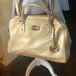 Michael Kors - Gold Metallic Tote Handbag